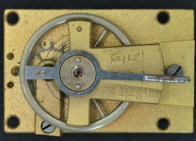 Small French Cylinder Platform Escapement Working