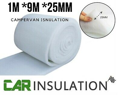 4m Acoustic ABSoft 25mm Fine Polyester Non Woven Car Van Insulation Dacron Roll