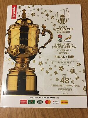 2019 RUGBY WORLD CUP FINAL OFFICIAL PROGRAMME - ENGLAND v SOUTH AFRICA New