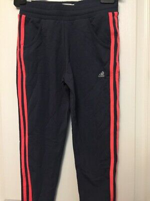 Bnwt Girls Lovely Adidas Tracksuit Pants Ankle Cuffs Elasticated Waist Band Midn