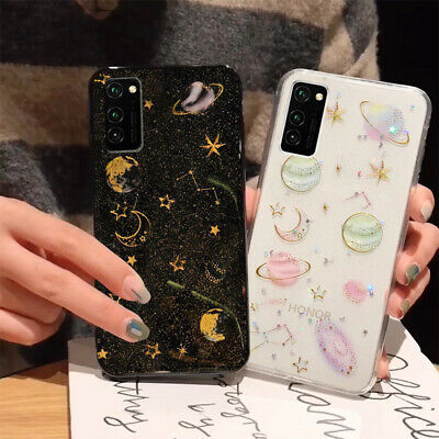 For Huawei Honor V30 P30 Pro Nova 5T Glitter Planet Star Rubber Soft Case Cover