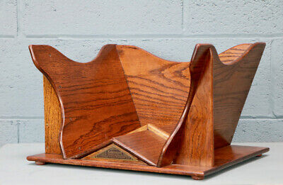 Arts and Crafts Oak Book Trough (100715)