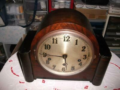 German (Urgos) 8 Day Westminster Chiming Mantel Clock In Need Of Refurbishment