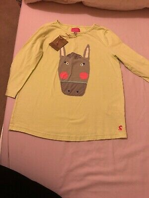 Girls Joules Lime Green Long Sleeved Top  Age 11-12 years BNWT