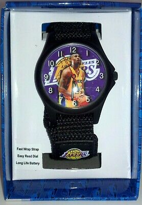 KOBE BRYANT L.A. Lakers NBA GAME TIME Wristwatch NEW OLD STOCK NEEDS BATTERY