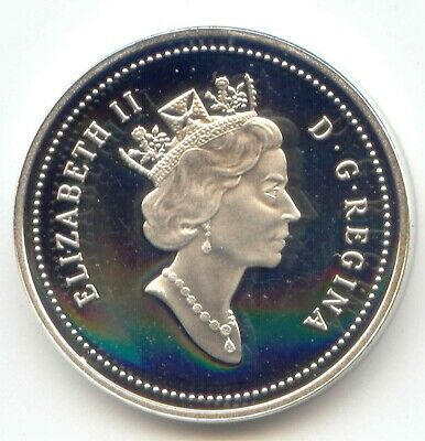 Canada 2003 Uncirculated SILVER PROOF Canadian Nickel 5c Five Cent Piece 5 Cents