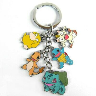Bulbasaur Charmander Squirtle Psyduck Meowth Keychain USA SELLER! FAST SHIPPING!