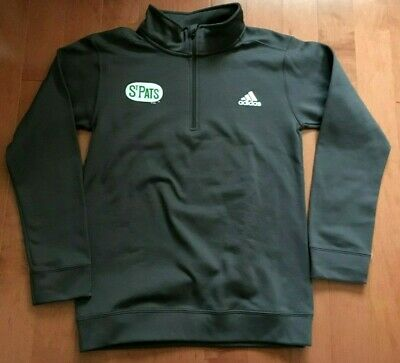 NWT Adidas S Toronto St Pats Maple Leafs Pro 1/4 Zip Athletic Tech Sweatshirt!