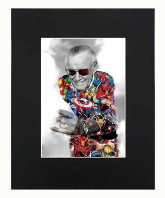 Stan Lee marvel Art Print Poster Decor picture Photograph Display Matted 8x10