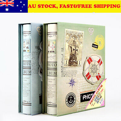 200 pockets slip in photo album 3D 6x4.5/11x15.2cm family friend birthday Gift