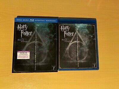 Harry Potter and the Deathly Hallows: Part II Blu-Ray and Slipcover (No Digital)