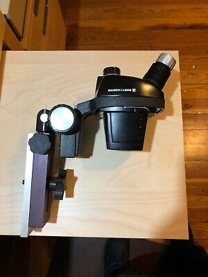 Bausch & Lomb/Hughes MCW552 0.7X-3X Microscope Head and stand