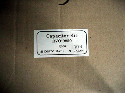 Sony Capacitor Kit EVO-9850 genuine VCR VTR parts