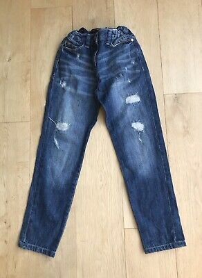 RIVER ISLAND  *8y BOYS RIPPED STYLE BLUE DENIM JEANS AGE 8 YEARS