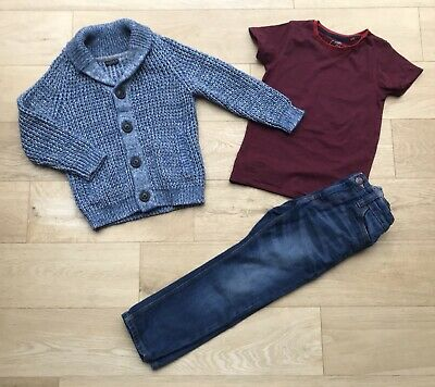 NEXT *5y BOYS JEANS JACKET & TOP Bundle AGE 5 YEARS