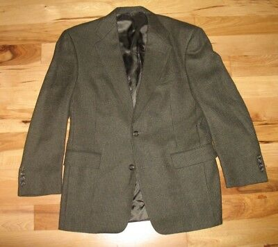 Burberrys' Brown Wool Blend Houndstooth Two Button Blazer Jacket Mens 38S