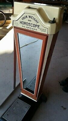 vintage Watling penny operated upright scale