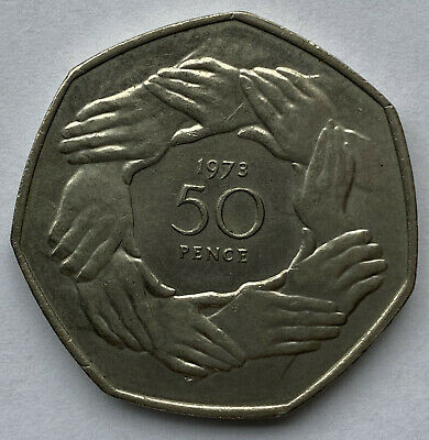 1973 EEC Ring of Hands Fifty Pence Coin - Collectors Coin Post BREXIT!!
