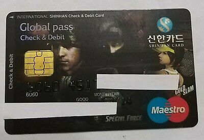 bank card korea maestro special force expired