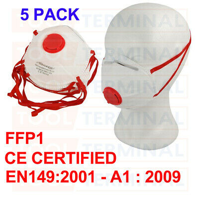 5 X Flu Virus Face Mask with Valve Surgical Bacteria Dust FFP1