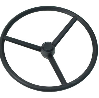 Tractor Steering Wheel For Ford Models Rubberized Plastic And Steel Cap included