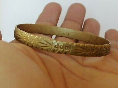 Extremely Rare Ancient Bracelet Viking Bronze Artifact Authentic