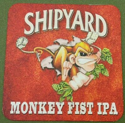MAINE IPA Beer Postcard Coaster ~ SHIPYARD Brewing Co Old Thumper ~ Portland