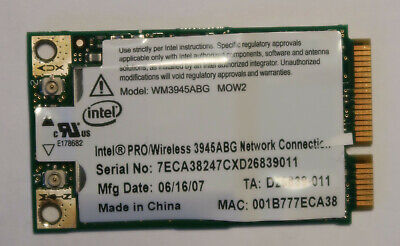 Intel for Dell PRO//Wireless 3945ABG MOW1 Mini PCIe WM3945ABG Wifi Network Card