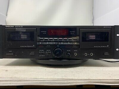 Tascam 202 MkIII Dual Cassette Deck. Black Rack Mountable MW