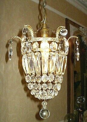 Exquisite Early 20Th Century Basket Chandelier