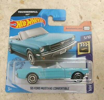 Hot wheels '65 Ford Mustang convertible thunderball 007 scale 1:64