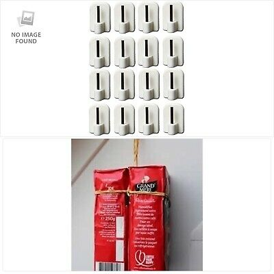 Bestsellers - White color adhesives hooks for rods extendable curtains Each hook