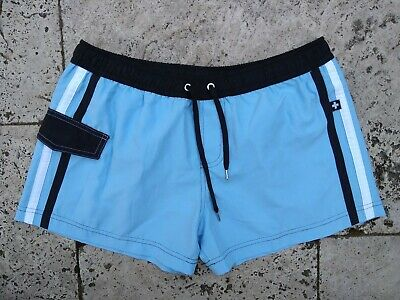 W32 Andrew Christian Light Blue Shorts Made In Usa Style 7205 Cut 601874