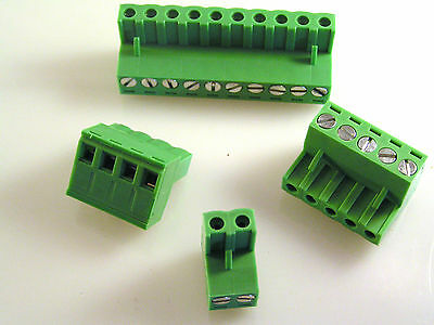 Terminal Block Sockets HD-515H8 12A 250VAC 2 - 10 Way Screw Fix Bared Wire EB91
