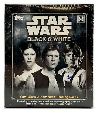 Star Wars: A New Hope Black & White Trading Cards Box (Topps 2018) STAR WARS!!