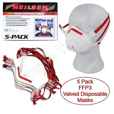 FFP3 Valved Face Masks Dust Paint PPE Virus Medical Mouth Respirator Disposable