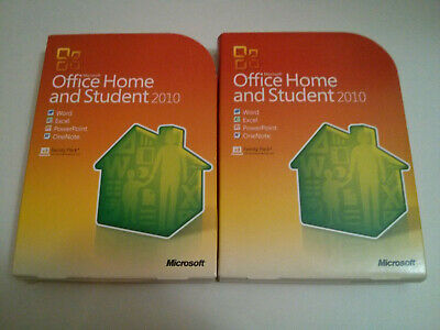 Lot of 2x Microsoft Office Home & Student 2010 Word Excel PowerPoint OneNote