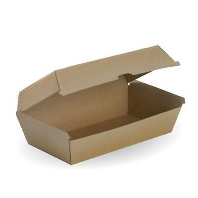 Corrugated Kraft Snack Box Large Beta Paper Board Disposable 50 & 200 pcs