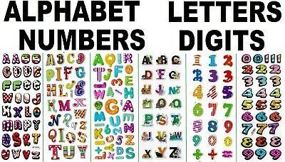 3D puffy Stickers ALPHABET Letters NUMBERS digits teacher student school