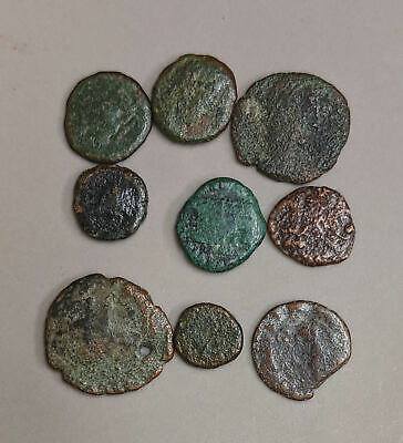 Collection of Nine ANCIENT ROME Roman Coins (#L4063)