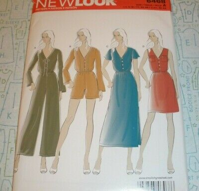 New Look 6468 Misses/' Dresses and Jumpers 6 to 18      Sewing Pattern