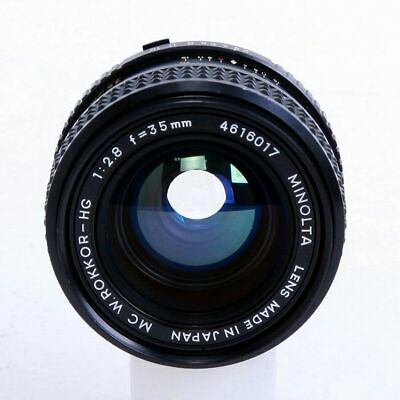 Minolta MC W.Rokker-HG 35mm F2.8 Wide Angle Prime Lens Excellent from Japan F/S