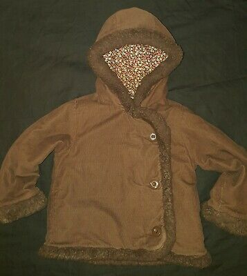 Baby Gap Girls  Winter Hooded Coat Jacket 5 year old BROWN  ! NO DEFECTS !