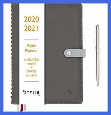 Apex Planner 2020/2021 Undated Weekly Dated Monthly Calendar. Daily Personal Age