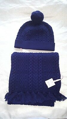 Vineyard Vines Bobble Cable Scarf and Hat
