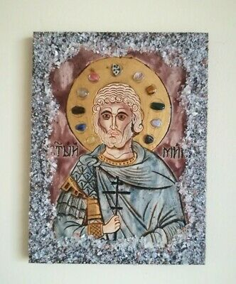St Menas Martyr The Wonderworker Byzantine Orthodox Icon, Religious Easter Gift