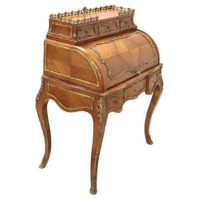 19th Century French Louis XV Style Rosewood and Ormolu Bureau or Writing Desk