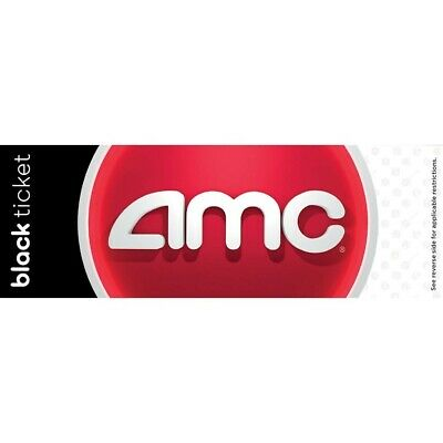 (30) AMC Black Movie Ticket - Never Expires (Perfect for the family)