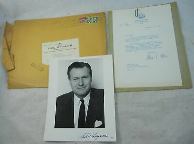 Nelson Rockefeller Autograph Signed 8x10 Photo New York Governor w Letter 1959