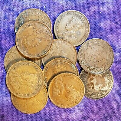 Mixed Lot of Canadian Large Cents (11)